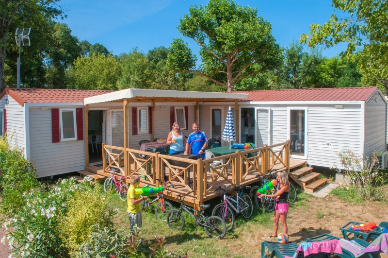 Camping ardeche mobilhome 3 chambres