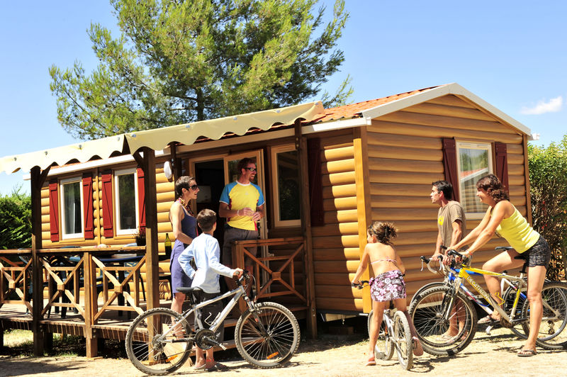 Camping mobilhome provence