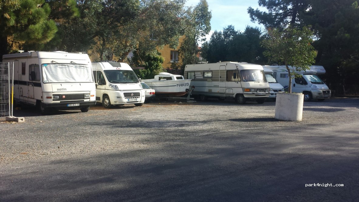 Aire camping car port vendres