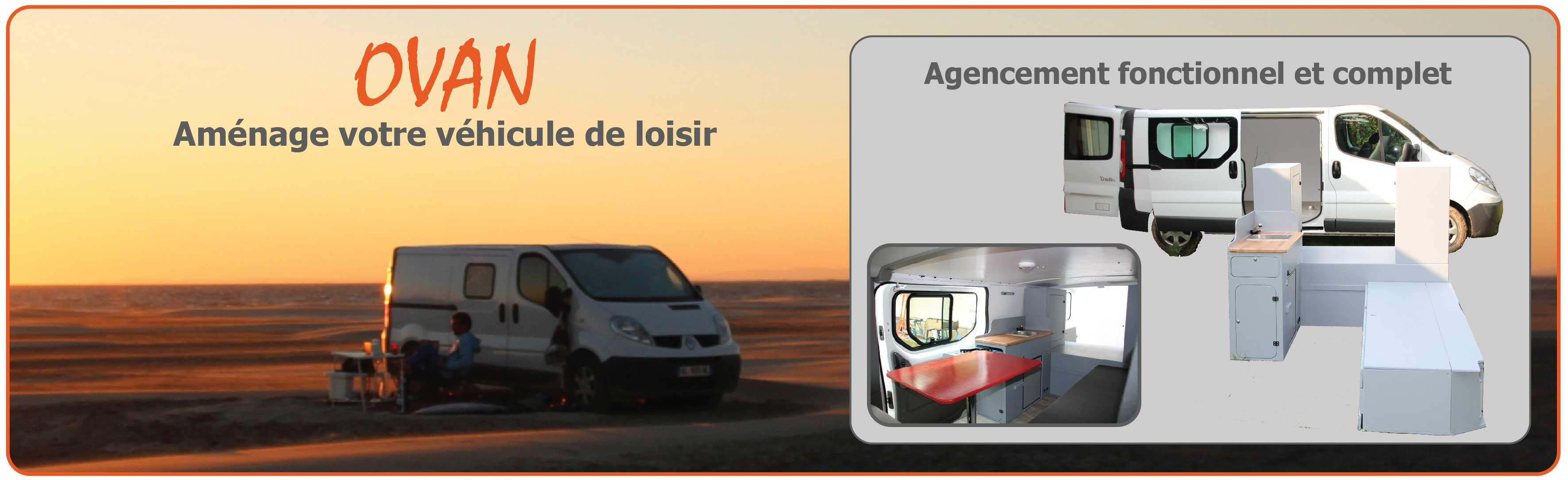 Kit amenagement fourgon camping car trafic