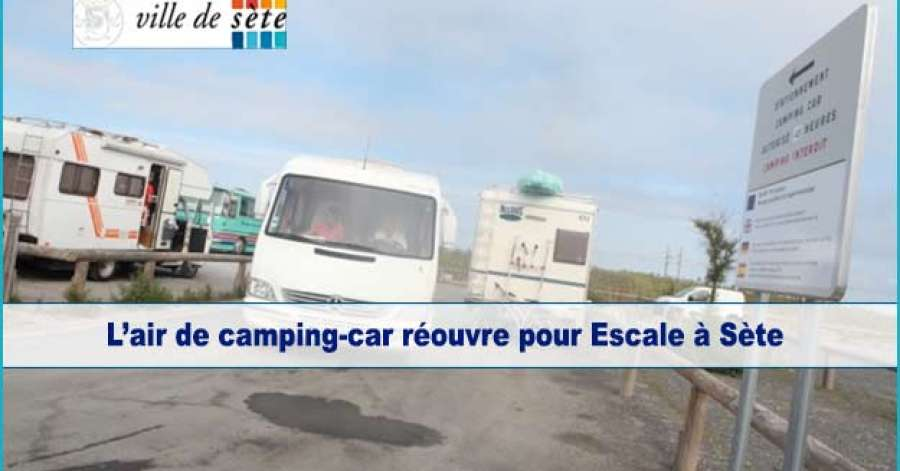 Aire camping car sete