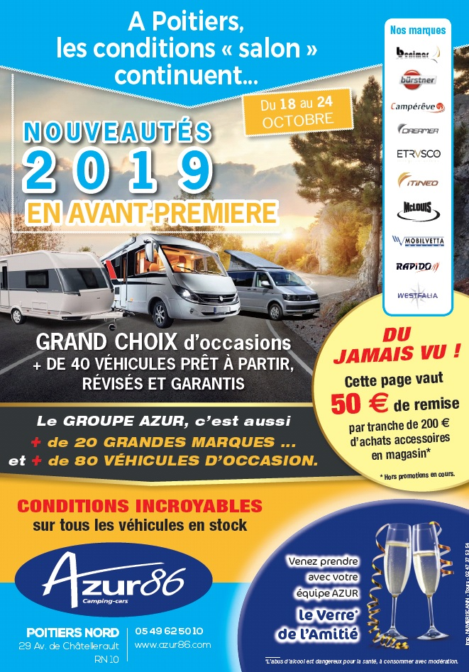 Camping car occasion poitier