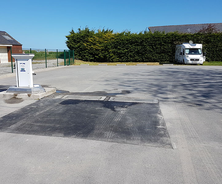 Aire camping car cancale