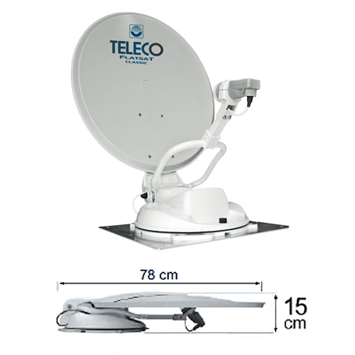 Antenne satellite camping car automatique teleco