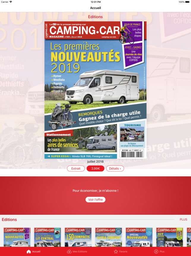 Cote occasion camping car magazine