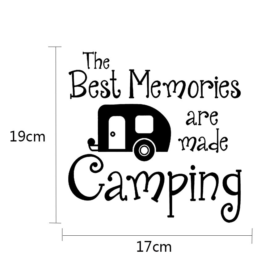 Sticker camping car