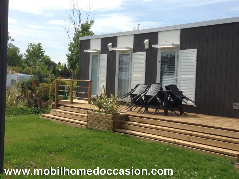 Mobilhome a vendre dans camping herault