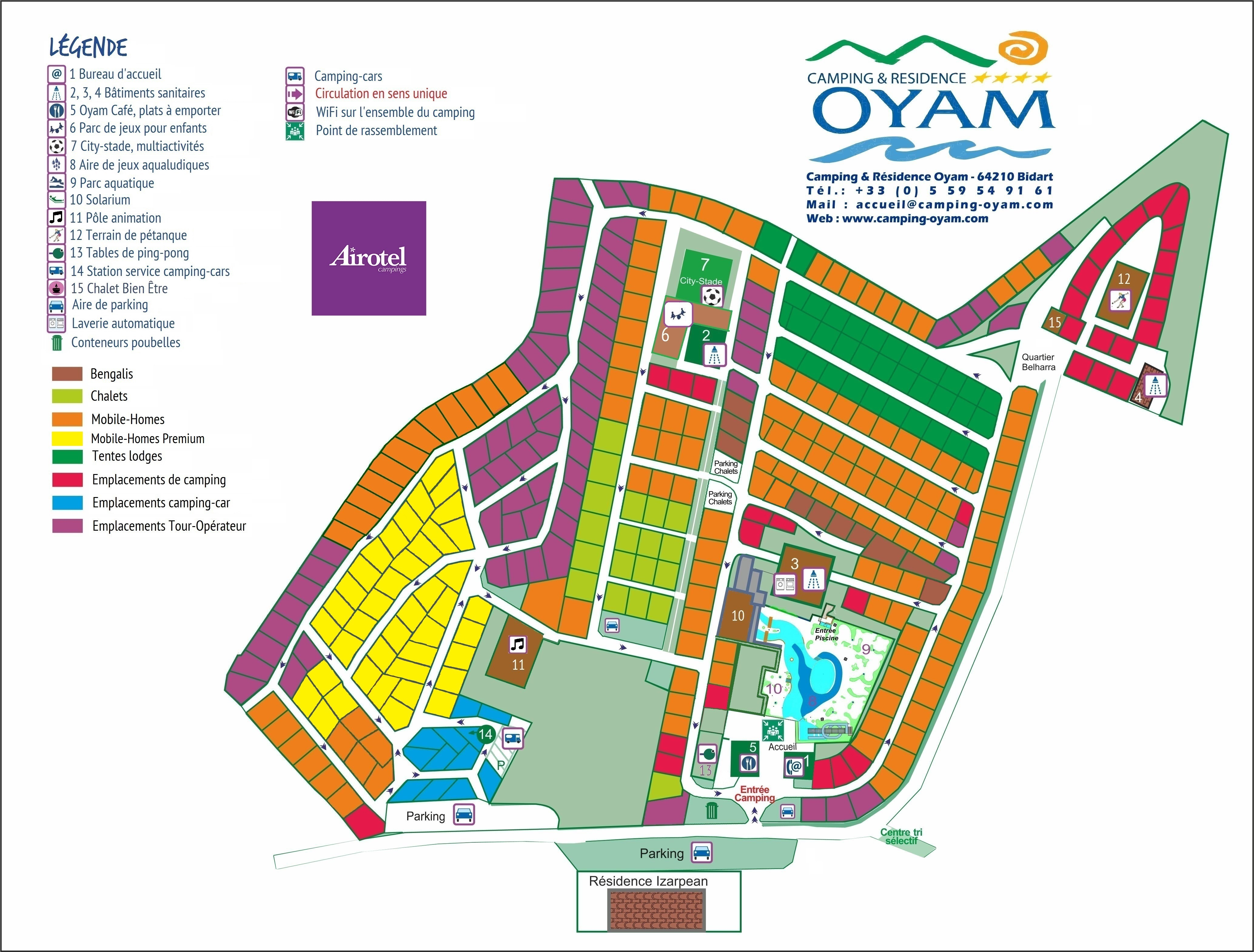 Camping oyam camping narbonne plage
