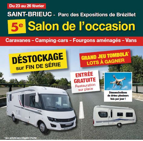 Exposition camping car occasion