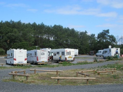 Aire camping car landes