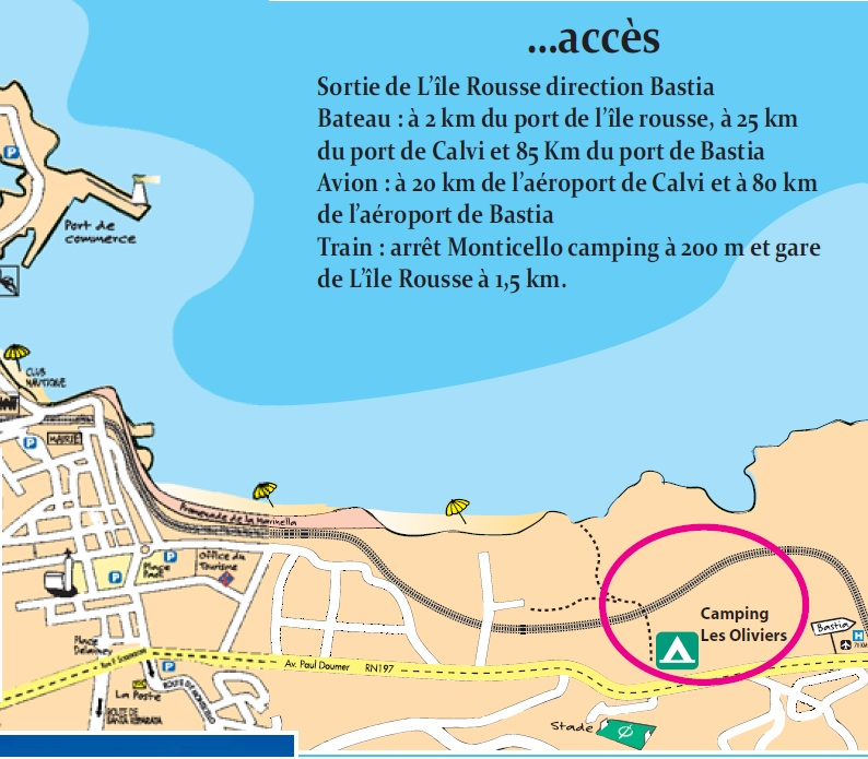 Camping corse ile rousse