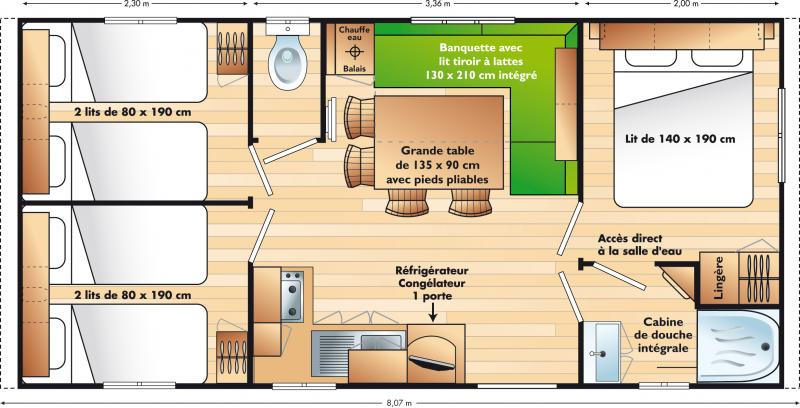 Location mobilhome 3 chambres