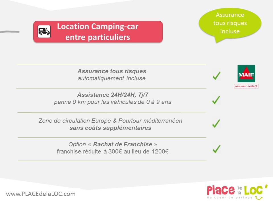 Contrat de location camping car