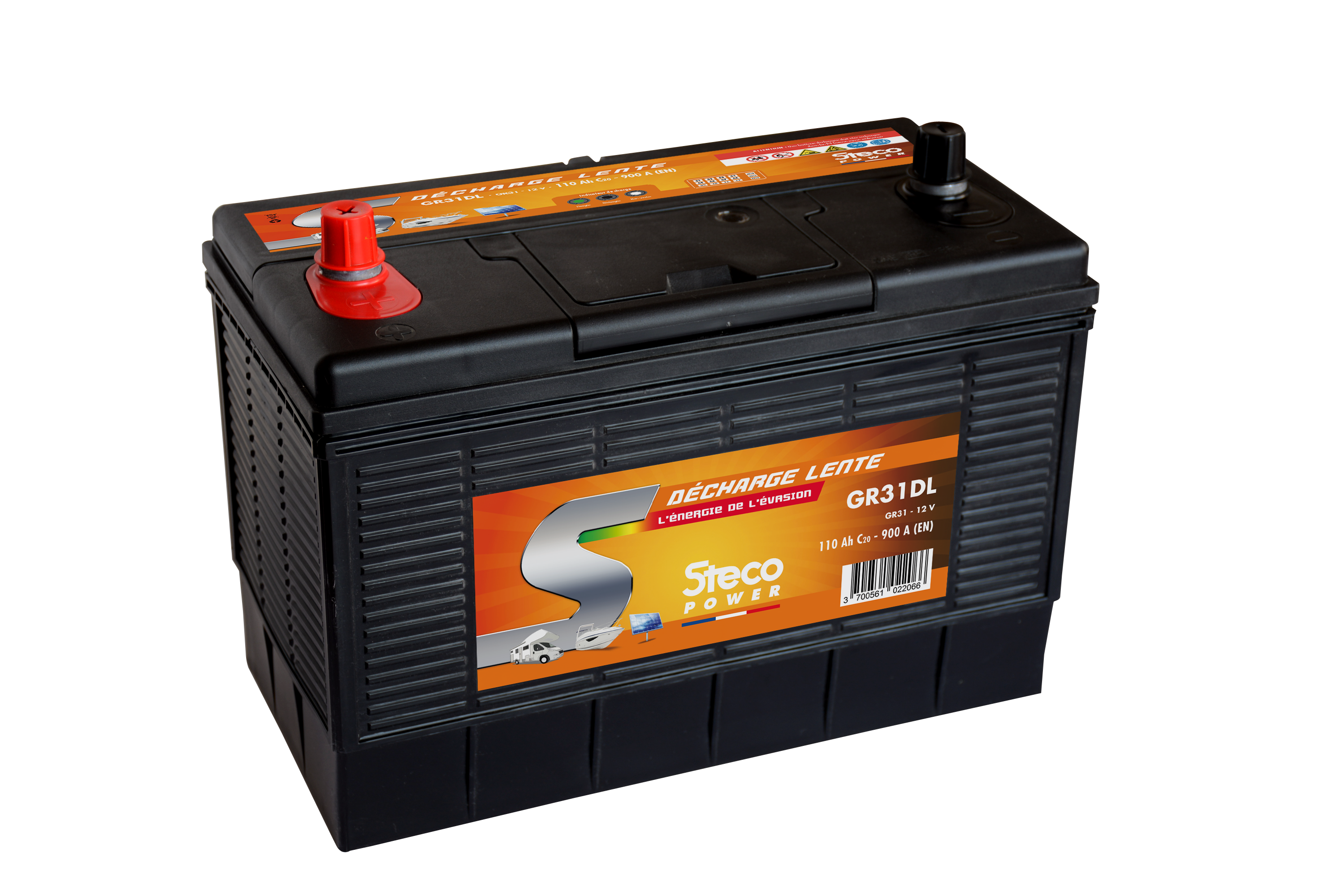 Batterie camping car decharge lente 110ah