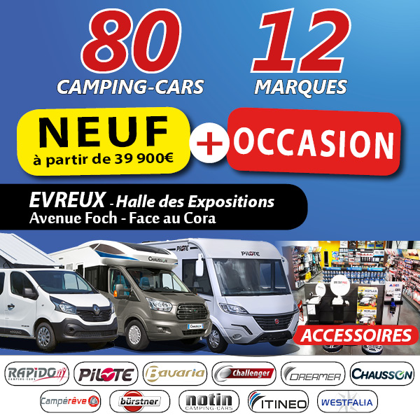 Exposition camping car occasion caen