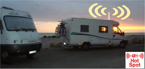 Antenne tv camping car omnidirectionnelle