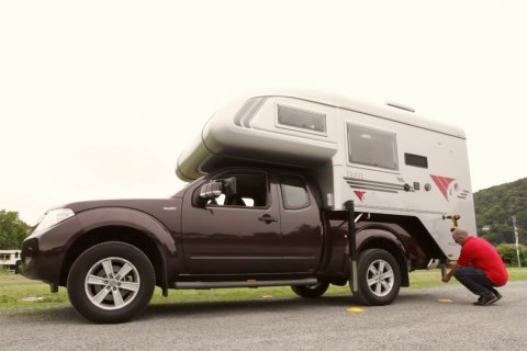 Cellule camping car pour pick up