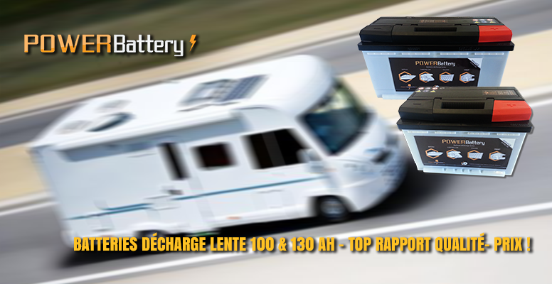 Batterie a decharge lente camping car