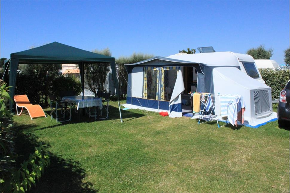 Camping emplacement caravane