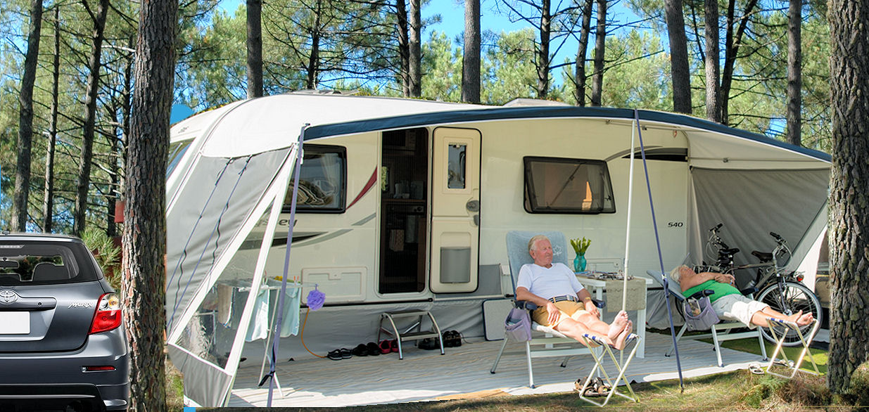 Emplacement caravane camping