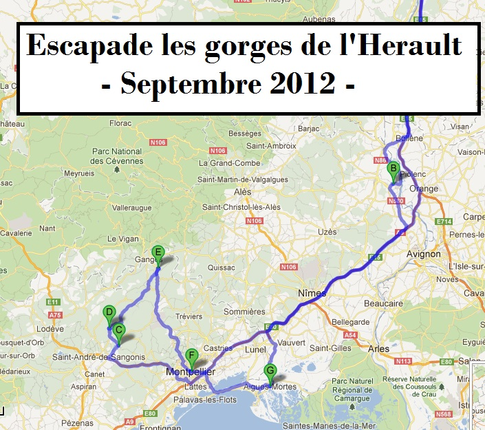 Itineraire pour camping car