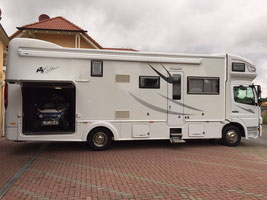 Camping car avec garage voiture occasion