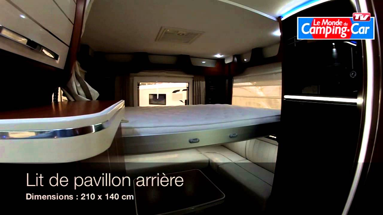 Camping car occasion salon arriere