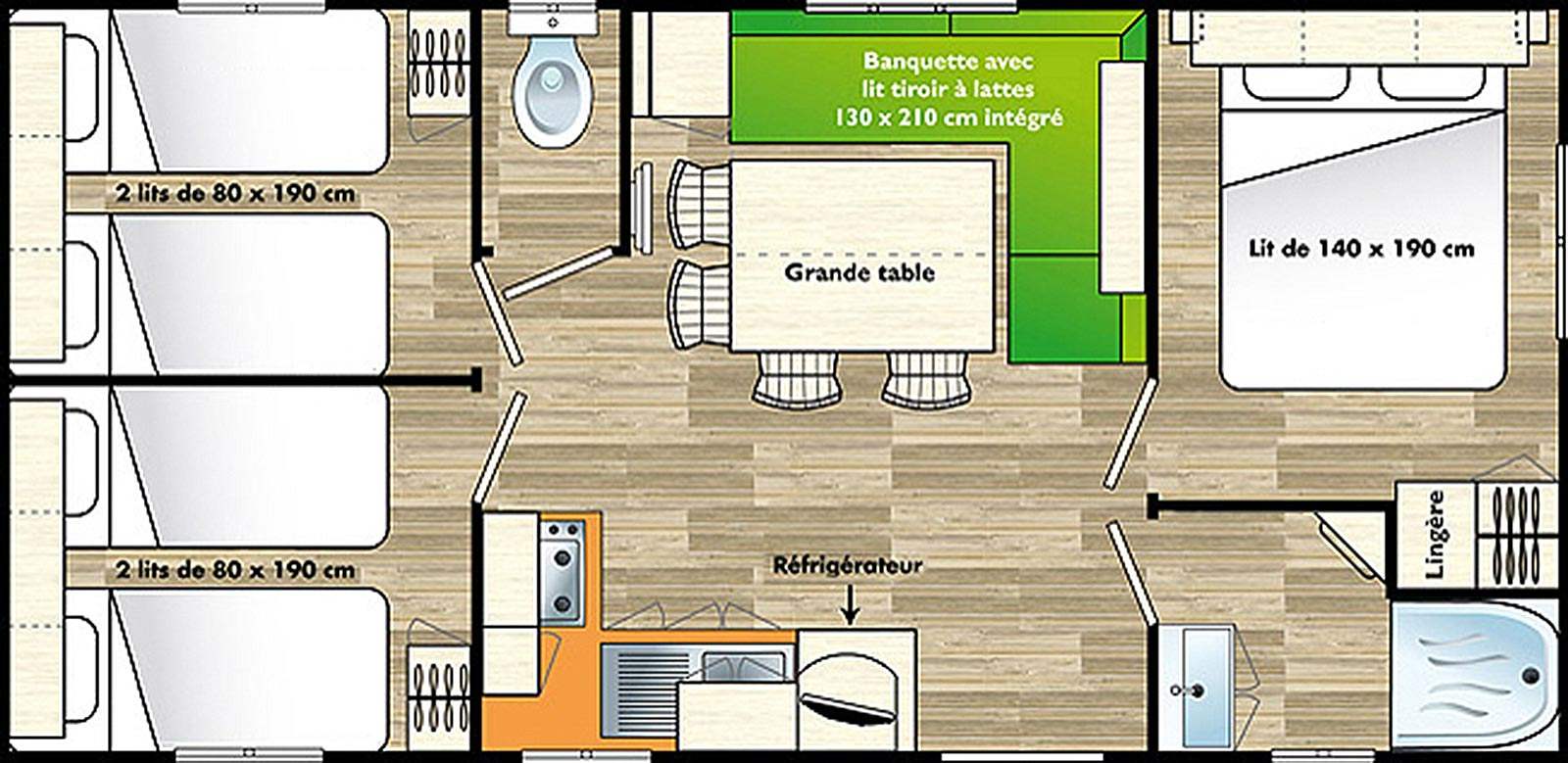 Location mobilhome 8 personnes