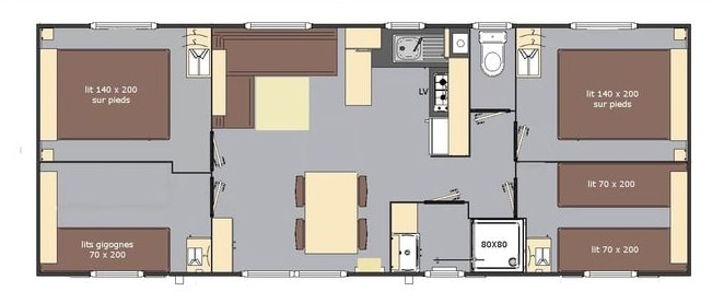 Mobilhome 4 chambres