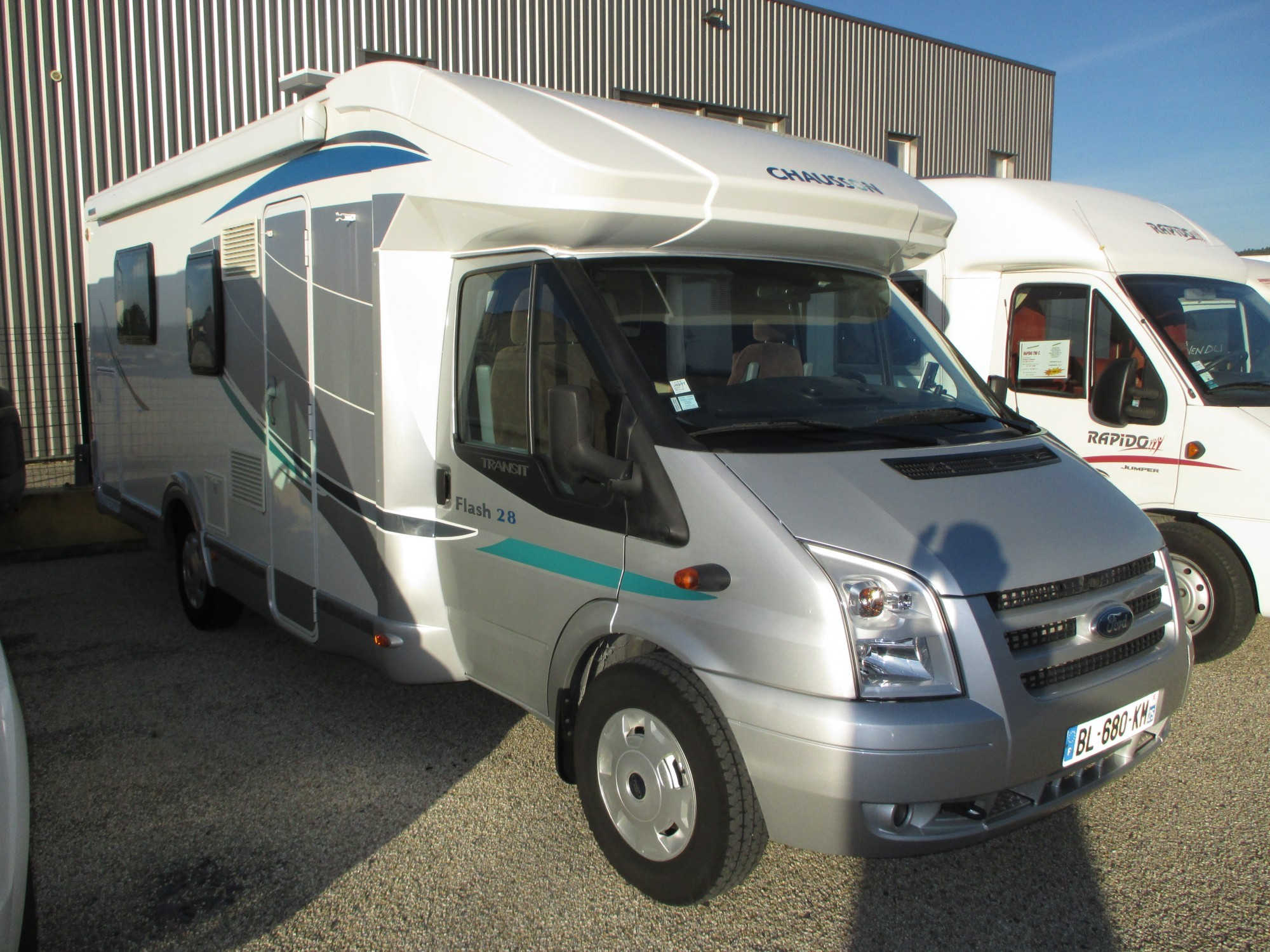 Camping car occasion lit centrale