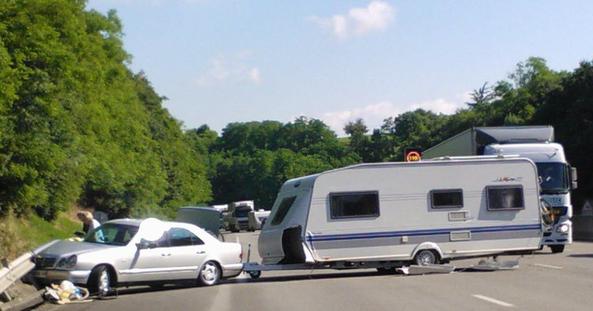 Caravane accidentée