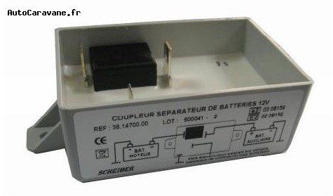 Coupleur batterie camping car