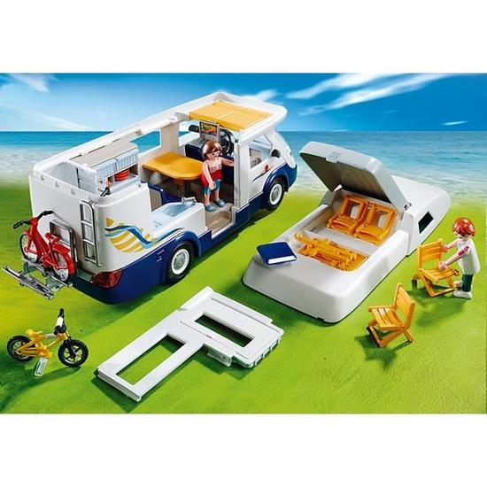 Camping car playmobil 4859 camping car geant