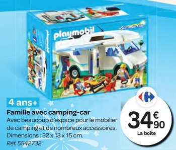 Camping car playmobil leclerc