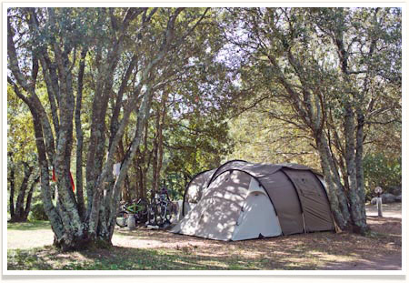 Camping corse emplacement tente
