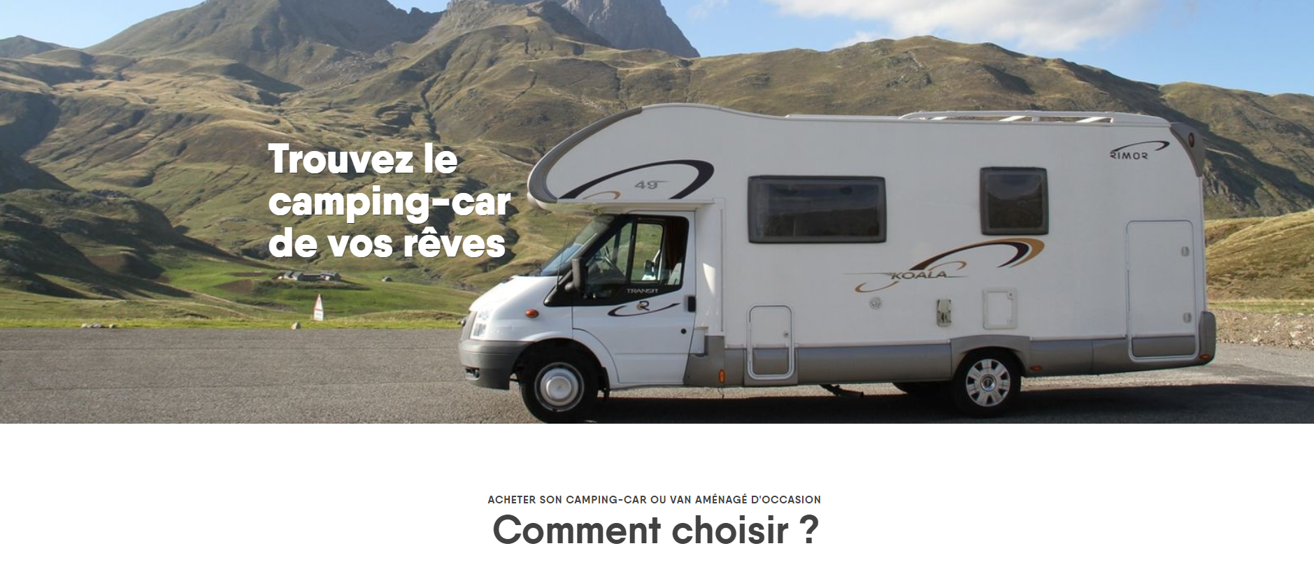Comment choisir un camping car occasion